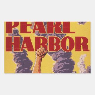 Vengúese el Pearl Harbor Pegatina Rectangular