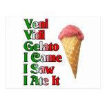 Veni Gelato Vini (vine yo vi que yo lo comí) Tarjetas Postales