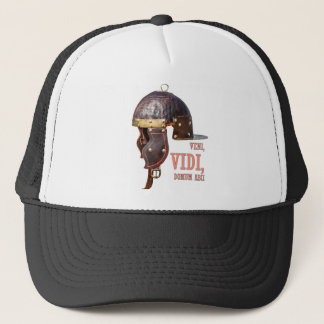 Veni, Vidi, Domum abii Ancient Roman helmet Trucker Hat