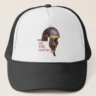 Veni, Vidi, Popcorn emit Ancient Roman helmet Trucker Hat