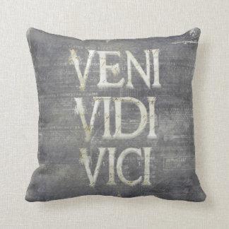 Veni Vidi Vici by Vetro Designs/Vetro Jewelry Throw Pillows