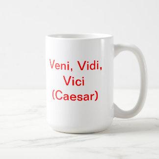 Veni, Vidi, Vici (César) Taza De Café