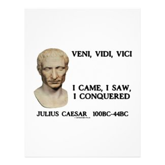Veni, Vidi, Vici - I Came, I Saw, I Conquered flyer