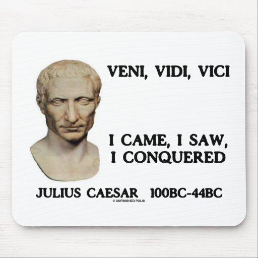 Veni, Vidi, Vici - I Came, I Saw, I Conquered Mousepads