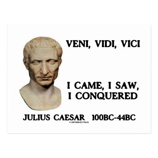 Veni, Vidi, Vici - I Came, I Saw, I Conquered Postcard