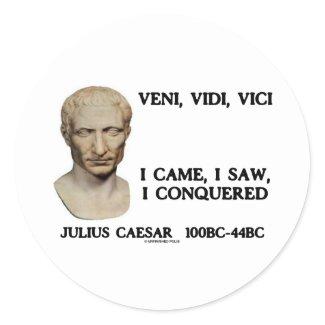 Veni, Vidi, Vici - I Came, I Saw, I Conquered sticker