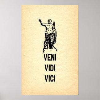 Veni Vidi Vici Julius Caesar Quote Poster
