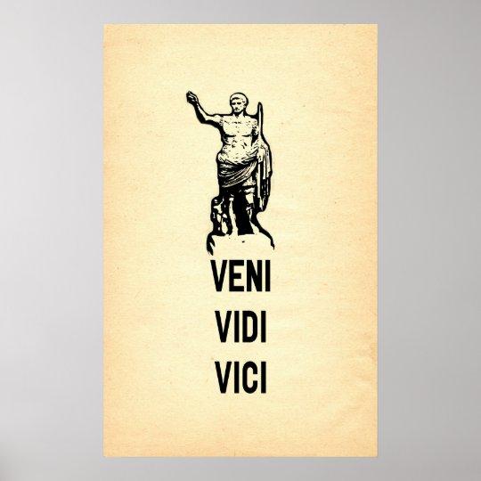 Veni vidi vici julius caesar quote poster - Veni vidi vici tatouage ...