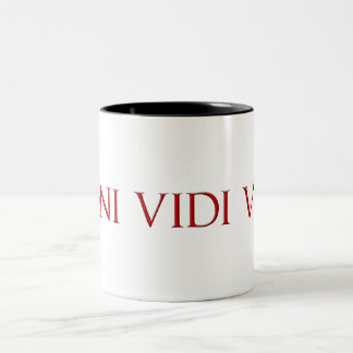 Veni Vidi Vici Two-Tone Coffee Mug