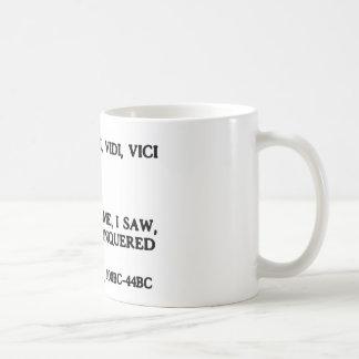 Veni, Vidi, Vici - vine, yo vi, yo conquisté Taza De Café