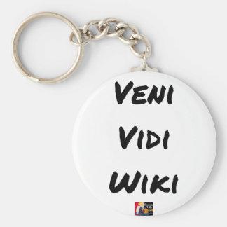 VENI VIDI WIKI - Word games - François City Keychain