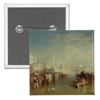 Venice, 1840 2 inch square button
