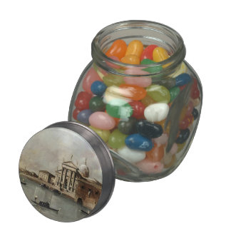 Venice: A View of the Church by Francesco Guardi Jelly Belly Candy Jar