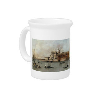 Venice: A View of the Church by Francesco Guardi Beverage Pitchers