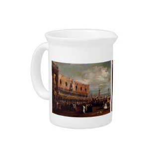 Venice,a View of the Piazzetta by Francesco Guardi Drink Pitcher