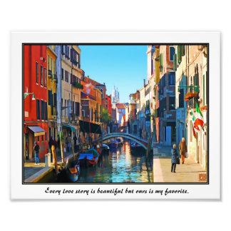 Venice Alley with Love Quote Art Photo