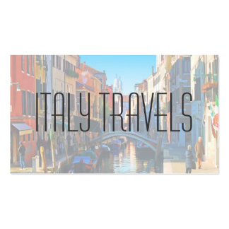Venice Alley with Love Quote Business Card