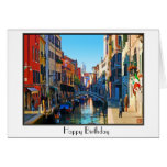 Venice Alley with Love Quote Greeting Card