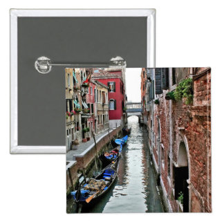 Venice Alleyway 2 Inch Square Button