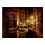 Venice at night - beautiful postcard