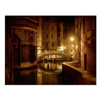 Venice at night - beautiful postcard