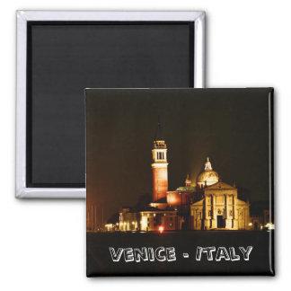 Venice at Night No.2 (Fridge Magnet) 2 Inch Square Magnet