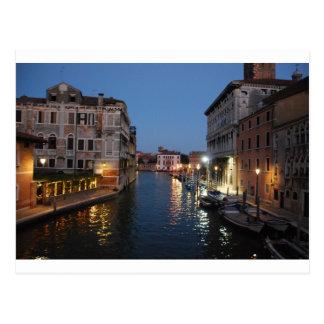 Venice at night postcard