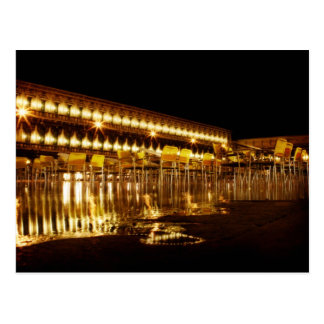 venice at night postcard