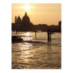 Venice at sunset postcard