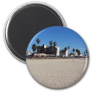 Venice Beach 2 Inch Round Magnet