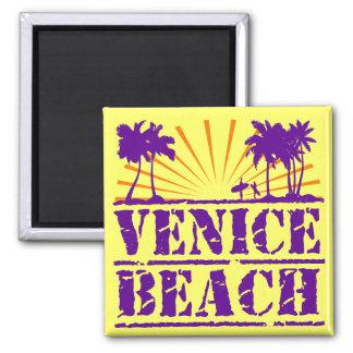 Venice Beach 2 Inch Square Magnet