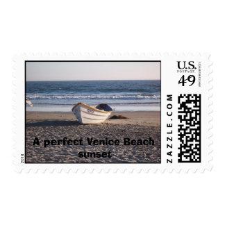 Venice Beach at Sunset, A perfect Venice Beach ... Postage
