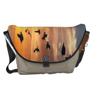 Venice Beach Birds Messenger Bags