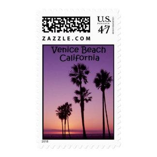 Venice Beach, CA Sunset Postage