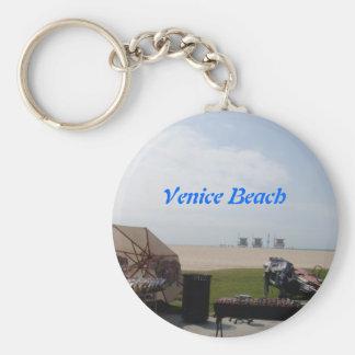 Venice Beach, California Basic Round Button Keychain
