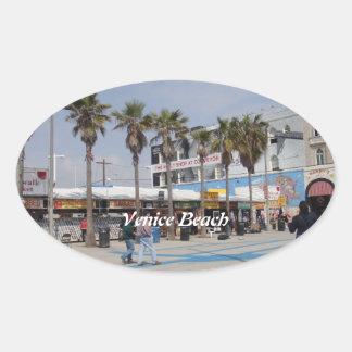 Venice Beach, California Oval Sticker