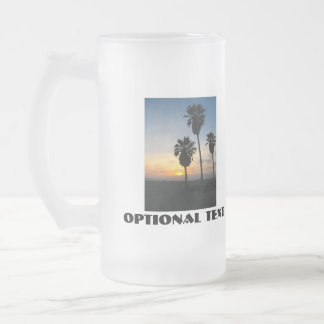 Venice Beach California Sunset 16 Oz Frosted Glass Beer Mug
