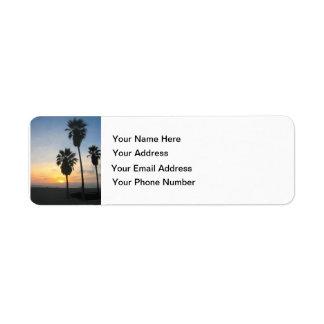 Venice Beach California Sunset Return Address Labels