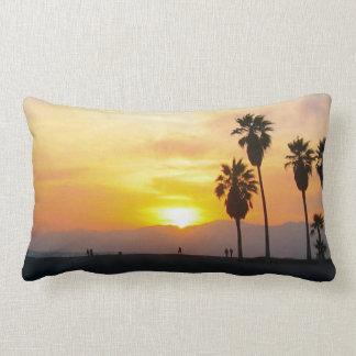 Venice Beach California Sunset Throw Pillows