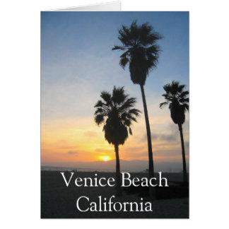 Venice Beach California Sunset Souvenir Greeting Card