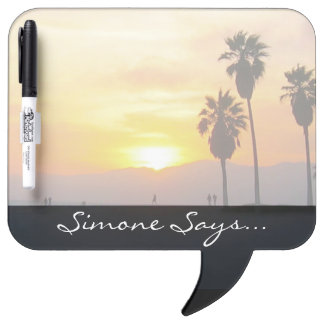 Venice Beach California Sunset Souvenir Dry-Erase Board