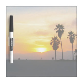 Venice Beach California Sunset Souvenir Dry Erase Board