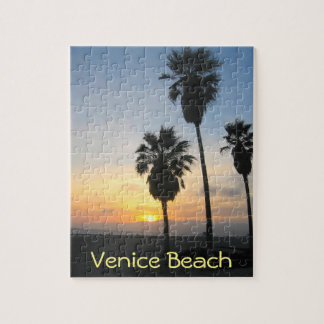 Venice Beach California Sunset Souvenir Jigsaw Puzzle