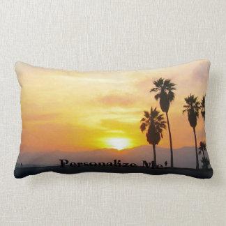 Venice Beach California Sunset Souvenir Lumbar Pillow