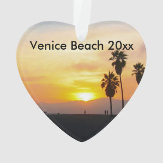 Venice Beach California Sunset Souvenir Ornament