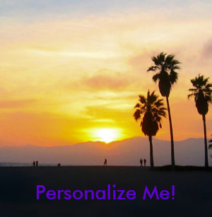 Venice Beach California Sunset Souvenir Ping Pong Paddle
