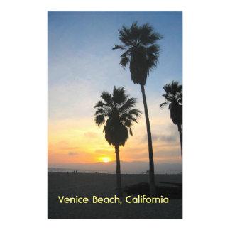Venice Beach California Sunset Souvenir Stationery