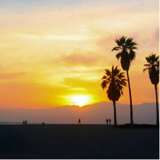 Venice Beach California Sunset Souvenir Statuette