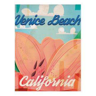 Venice Beach California Vintage Travel Poster Postcard