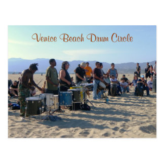 Venice Beach Drum Circle Postcard! Postcard